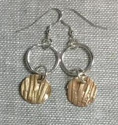 Linda Freedman Katz - StriDangles Earrings - Argentium Silver & Bronze