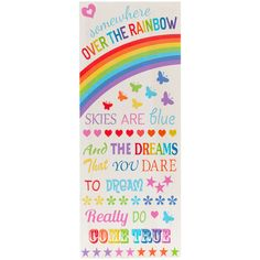 Wholesale Colourful over the rainbow sign - Something Different