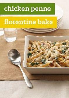 Chicken Penne Florentine Bake – chicken, spinach and at http://tastyshare.com/index.php/posts/151831-Chicken-Penne-Florentine-Bake-chicken-spinach-and