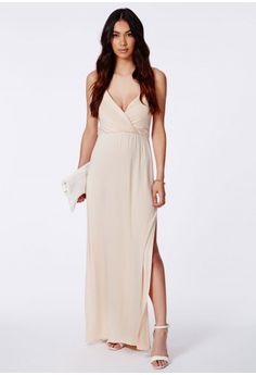 Lumie Strappy Wrap Front Maxi Dress - Maxi Dresses - Missguided