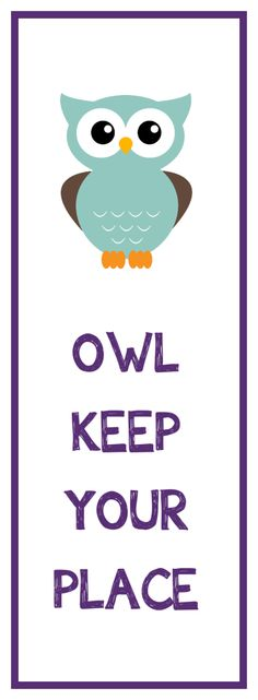 Here's a free owl bookmark printable that you can use to save your place in all of your favorite books. Free Printable Bookmarks, Bookmarks Kids, Free Printables, Owl Printable, Printable Book Marks, Printable Coloring, Owl Crafts, Paper Crafts, Marque Page