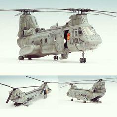 Boeing CH-46E 1/48 Academy. Modeler Arkady72 #scalemodel #plastimodelismo #plastickits #usinadoskits #udk #miniatura #miniature #modelismo #hobby #plasticmodel #plamodel #plastimodelo #diorama #academy #boeing
