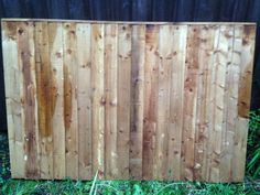 BRAND NEW 4X6 CLOSEBOARD FENCE PANELS 3 BACKING RAILS