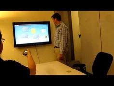 Phone + skeletal tracking + interactive whiteboard = HCI magic.