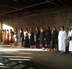 The Row, S/S 2015 RTW Show. Natural lighting and focus on the clothing, not the show pt.2.