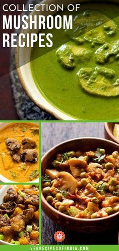 Mushrooms are so versatile in cooking that they go with almost anything. They can be sauteed or stuffed, they can be in side dishes or soups, and they can be made for breakfast, lunch, dinner, and snacks! This collection of 60 Indian mushroom recipes are sure to be a hit no matter the time of day they are served or how they are prepared. Try them today! #mushrooms #Indianfood #vegetarian #vegetarianrecipes #healthy Vegetarian Mushroom Recipes, Vegetarian Curry, Veg Recipes Of India, Indian Food Recipes, Paneer Recipes, Curry Recipes, Vegetable Dishes, Vegetable Recipes, Maggi Recipes