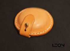 Small Leather Holder by Leon Litinsky