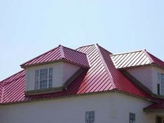 Red Brick House With Tan Metal Roof How To Install A