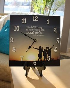 Easy project idea from Alissa at Creative Memories - create a photo panel using Storybook Creator 4.0, then drill a hole and the clock kit to it!