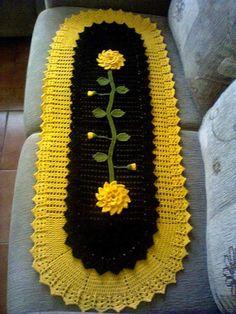 Crie e Faça Você Mesmo: Modelos de crochê bonito, amarelo, preto e branco