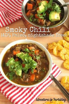 This totally AIP chili gives you all the depth of the chili you remember, but without the inflammation. LOVE the ingredients in this!