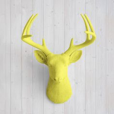 The Virginia Yellow Faux Deer Head