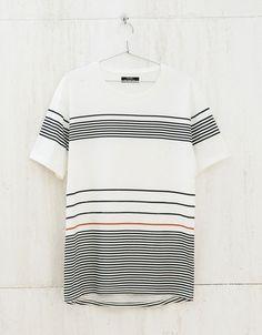 'Holes & Stripes' top - T-shirts - Bershka Algérie