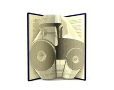Book folding pattern - TRACTOR - 2 different sizes included 217 and 264 folds + Tutorial with Simple   pattern - Heart - CA0105