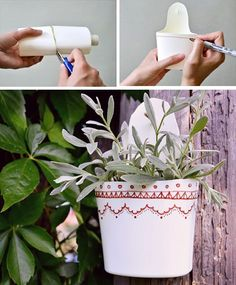10 creative ways to make beautiful flowerpots from ordinary plastic bottles
