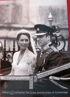 Prince William and Catherine Wedding Portrait Black White | eBay