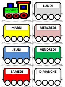 Librairie-Interactive - The weekday train You are in the right place about educational websites tips French Language Lessons, French Lessons, Preschool Worksheets, Preschool Activities, Classroom Calendar, French Worksheets, French Classroom, French Resources, Educational Websites