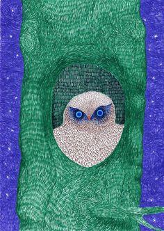 owl art by Dmitry Geller