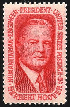 US Stamp 1965 - Herbert Hoover, US Pres This stamp honoring President Herbert Hoover was first placed on sale on August at West Branch, Iowa. Old Stamps, Vintage Stamps, West Branch, Herbert Hoover, Picture Cards, Presidential History, Us Presidents, American Presidents, Stamp Collecting