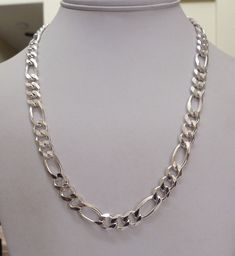 """20"""" LONG MENS ITALY STERLING SILVER 8.5MM CURB LINK CHAIN NECKLACE HEAVY 48 GRAM"""