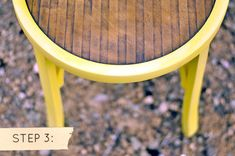 a sunny chair, part stripped/part painted, via design*sponge