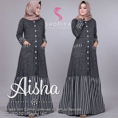 Gamis Hijab Prom Dress, Hijab Style Dress, Long Gown Dress, Muslim Dress, Batik Fashion, Abaya Fashion, Modest Fashion, Fashion Dresses, Muslim Women Fashion