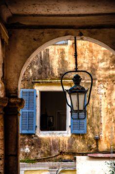 A Window in Corfu, Greece