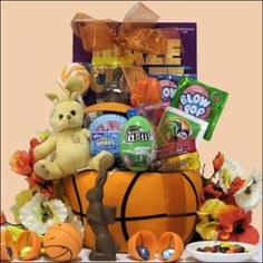 Basketball easter basket sports easter baskets pinterest egg streme basketball easter gift basket for boys ages 6 to 9 years negle