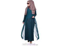Bugüne Özel Kargo BEDAVA! Şifon Detaylı Elbise 4930-03 Yeşil #sefamerve #tesetturgiyim #tesettur #hijab #tesettür