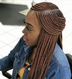 Side Part layered braids, long and neat braids | Hair in 2018 ...