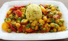 Gemüsepfanne mit Kichererbsen und Hirse – lecker uns sehr gesund -> https://www.zentrum-der-gesundheit.de/gemuesepfanne-mit-kichererbsen-und-hirse.html #gesundheit #ernaehrung #rezept #vegan