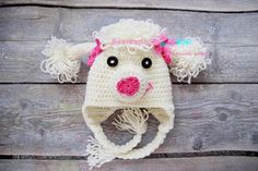 Crochet hat poodle by Anamaria Ami