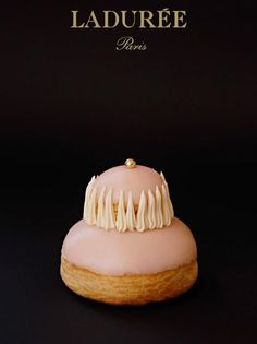 Ladurée Religieuse à la Rose. I'm going to eat you rose religieuse ! because I can !
