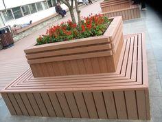 Park common flower boxes Norway,Trondheim, large wooden flower boxes ireland