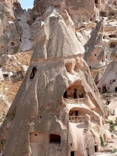 Cappadocia, Turkey. Limestone Karst structures converted into centuries old homes.