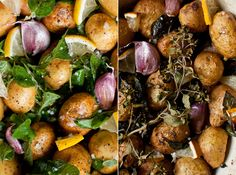 geröstete neuen Kartoffeln mit Oregano