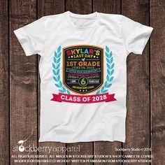 Last Day of School Chalkboard Shirt  Last Day by stockberryapparel
