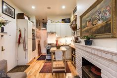 New York Couple Squeeze Into a Tiny 242-Square-Foot Prewar Apartment - See more at: http://www.thecoolist.com/242-sq-ft-nyc-apartment-tiny-nyc-apartment/#sthash.Q9uKbX4O.dpuf