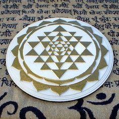 Tripura Sundari Shri Chakra Orgonite yantra energy generator