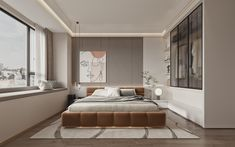 Luxury Kitchen Design, Bathroom Design Luxury, Bedroom Wall Colors, Home Decor Bedroom, Minimalist Bedroom, Modern Bedroom, Master Bedroom, Contemporary Interior Design, Home Interior Design