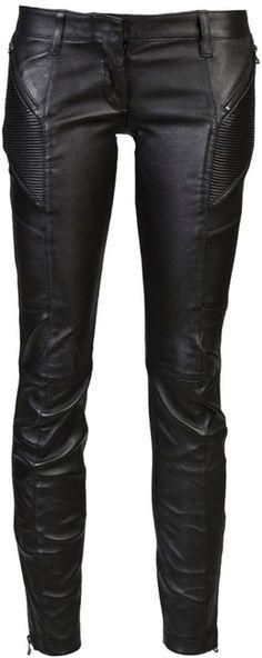 Pierre Balmain Biker Trousers #black #fashion #style