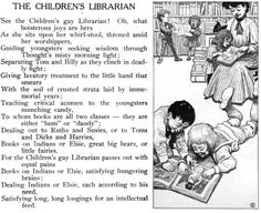 In 1906, Sam Walter Foss, a librarian in Somerville, Massachusetts, published a series of funny poems about the variously happy and beleaguered staff of a public library.