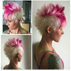 I'm growing my hair out now but if I ever get a wild hair up my ass again, I'm going with this.