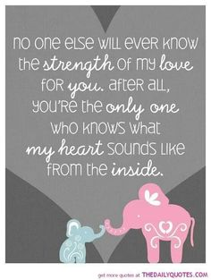 Love this, and I pray that everyday my children feel this deep love.