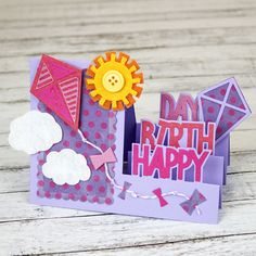Jennifer Priest uses felt in this happy birthday card for texture you can really feel!
