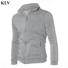 376fe80a265 Autumn Winter Men Warm Sweatshirt Soft Cotton Male Zipper Exercise Hoodies  Coat Slim Long Sleeve Sportwear