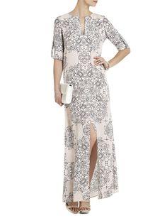 BCBG MAX AZRIA Olivia Scarf-Printed Tunic Dress