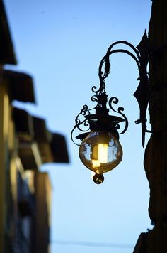 Street Lamp of the Old Florence City, Italy