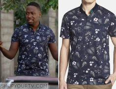 Winston Bishop (Lamorne Morris) wears this blue floral button down shirt in this week's episode of New Girl. It is the Ted [...]