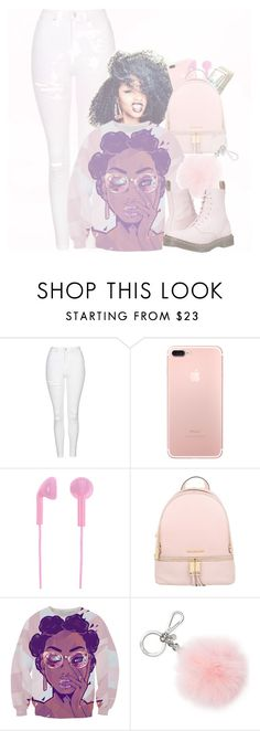 """""""Untitled #131"""" by treacey-pooh on Polyvore featuring Topshop, Happy Plugs, MICHAEL Michael Kors, Michael Kors and Dr. Martens"""